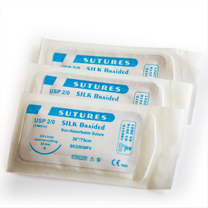 Needled Surgical Non-absorbable Silk (Braided) Sutures