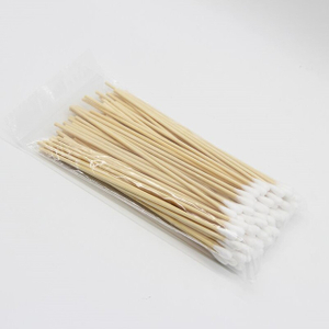 Disposable Cotton Buds 15cm Single Head Cotton Swab Sticks