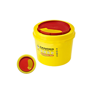 2.8L Yellow Biohazard Sharps Container for Syringe and Needle