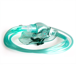 Disposable PVC Oxygen Full Face Mask with 2m Oxygen Tube