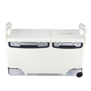 48L Medical Laborator Vaccine Storage Shipping Box Transport Cooler with Wheel